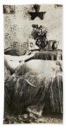 Sleeping Woman, C1900 Beach Towel
