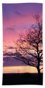 Spectacular Sunset Epsom Downs Surrey Uk Beach Towel