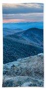 Sunset View Over Blue Ridge Mountains Beach Towel