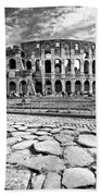 The Majestic Coliseum - Rome Beach Towel by Luciano Mortula