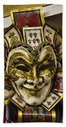 Venetian Carnaval Mask Beach Towel