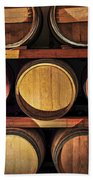 Wine Barrels Beach Towel by Elena Elisseeva
