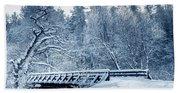 Winter White Forest Beach Towel