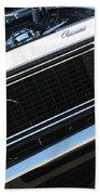 67 Black Camaro Ss Grill-8039-2 Beach Towel