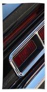 67 Black Camaro Ss Tail Light-8020 Beach Towel