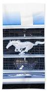 67 Mustang Emblem Beach Towel