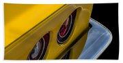 '69 Corvette Tail Lights Beach Towel