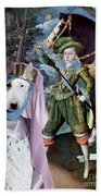 Bull Terrier Art Canvas Print Beach Towel