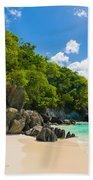 Beautiful Caribbean Beach Beach Towel
