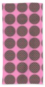 7 By 7 On Pink Beach Towel