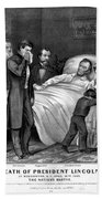 Death Of Lincoln, 1865 Beach Towel