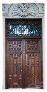 Distinctive Doors In Madrid Spain Beach Towel