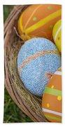 Easter Eggs Beach Towel