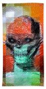 Halloween Mask Beach Towel
