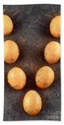 Organic Eggs Beach Towel by George Atsametakis