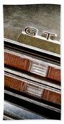 1969 Pontiac Gto Taillight Emblem -0475a Beach Towel