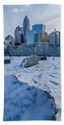 Rare Winter Scenery Around Charlotte North Carolina Beach Towel