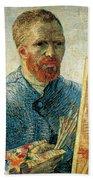 Self Portrait Beach Towel by Vincent van Gogh
