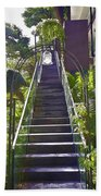 Staircase Leading To A Higher Level In Siloso Hotel In Sentosa Beach Sheet