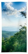 Sunrise Over Blue Ridge Mountains Scenic Overlook  Beach Towel