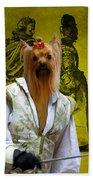 Yorkshire Terrier Art Canvas Print Beach Towel