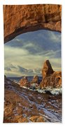 714000087 Turret Arch Arches National Park Beach Towel