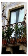 Views Of Taormina Sicily Beach Towel