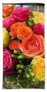 #790 D300 Roses Super Bright Beach Towel