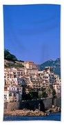 Amalfi Town In Italy Beach Towel by George Atsametakis