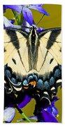 Eastern Tiger Swallowtail Butterfly Beach Towel