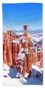 Eroded Rocks In A Canyon, Bryce Canyon Beach Towel