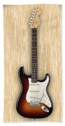 Fender Stratocaster Collection Beach Towel