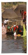 Hampi Ghats Beach Towel