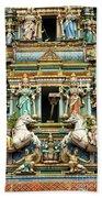 Hindu Temple With Indian Gods Kuala Lumpur Malaysia Beach Towel