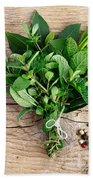 Kitchen Herbs Beach Towel