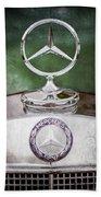 Mercedes Benz Hood Ornament Beach Towel