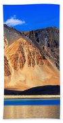 Mountains Pangong Tso Lake Leh Ladakh Jammu And Kashmir India Beach Towel