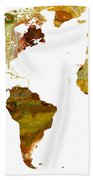 Abstract Map Beach Towel