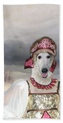 Borzoi - Russian Wolfhound Art Canvas Print Beach Towel