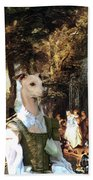 Italian Greyhound Art Canvas Print  Beach Towel