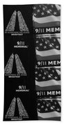 9/11 Memorial For Sale In Black And White Beach Towel