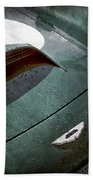 1959 Aston Martin Db4 Gt Hood Emblem Beach Towel
