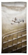 1972 Chevrolet Corvette Stingray Emblem Beach Towel