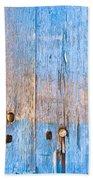 Blue Wood Beach Towel