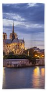 Cathedral Notre Dame Beach Towel by Brian Jannsen