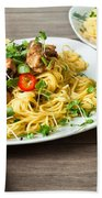 Chicken Noodles Beach Towel