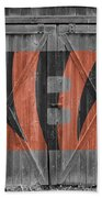 Cincinnati Bengals Beach Towel by Joe Hamilton