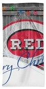 Cincinnati Reds Beach Towel