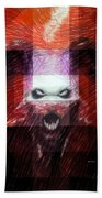 Halloween Mask Beach Towel