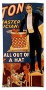 Howard Thurston, American Magician Beach Towel